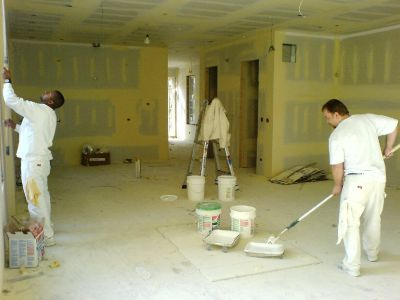 commercial painters working