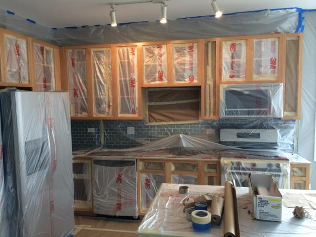 Kitchen Cabinet Painting Chicago Greenworks Painting Inc